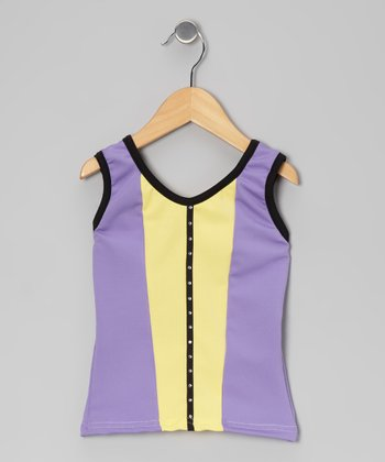 Lavender & Yellow Tank - Girls