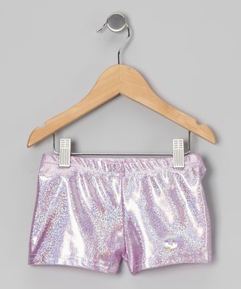 Lavender Foil Shorts - Girls