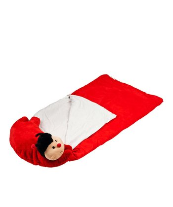 Happy Camper Ladybug Sleeping Bag & Pillow