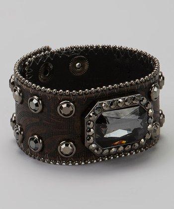 Hematite & Black Studded Bracelet