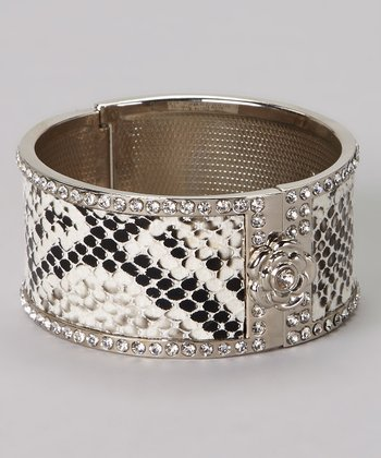 Black & White Sparkle Snake Bracelet