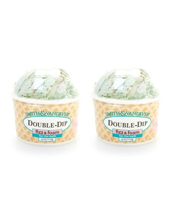 Chocolate Mint Double Dip Bath Fizz & Foam - Set of Two