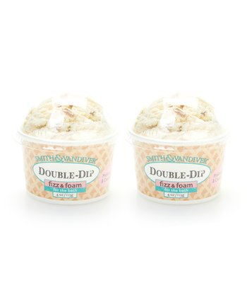 Pralines & Cream Double Dip Bath Fizz & Foam - Set of Two