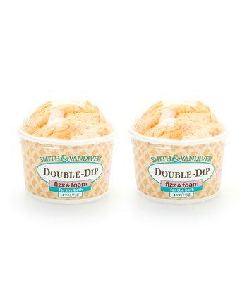 Mandarin Zest Double Dip Bath Fizz & Foam - Set of Two