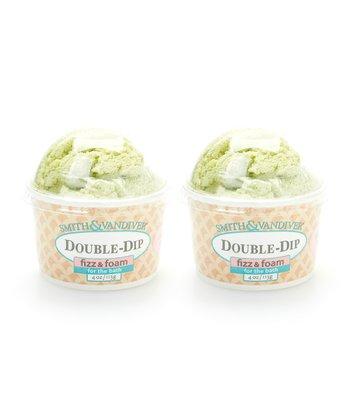 Green Tea Double Dip Bath Fizz & Foam - Set of Two