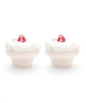 Raspberry Cupcake Bath Fizz - Set of Two
