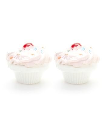 Cherry Cupcake Bath Fizz - Set of Two