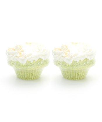Key Lime Coconut Cupcake Bath Fizz - Set of Two