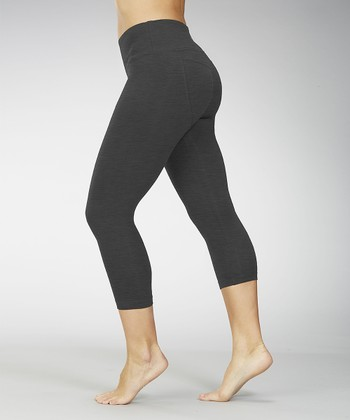 Heather Charcoal Butt-Booster Capri Leggings