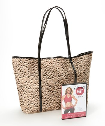Dance Hiit DVD & Leopard Tote Bag