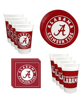 Alabama Crimson Tide Plate, Cup & Napkin Set