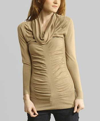 Wheat Cowl Neck Tunic