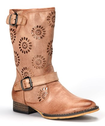 Tan Tazers Cutout Boot