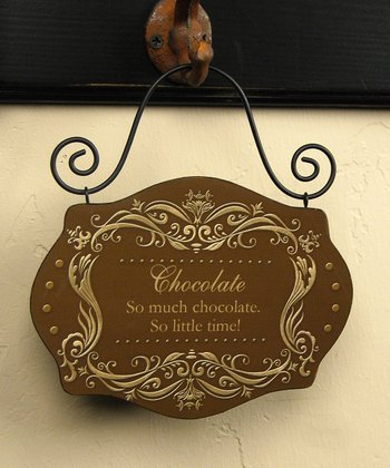 'So Much Chocolate' Vintage Sign