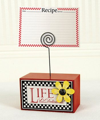 'Life is Delicious' Recipe Card Holder