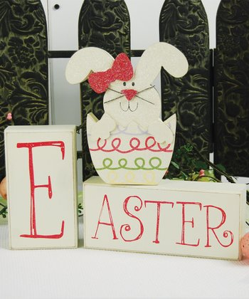 White Bunny 'Easter' Block Set