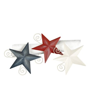 Rustic Star Napkin Ring Set