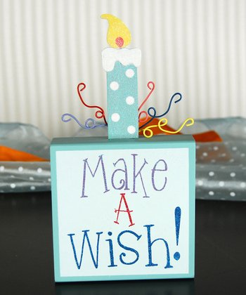 Sky Blue 'Make a Wish' Table Topper