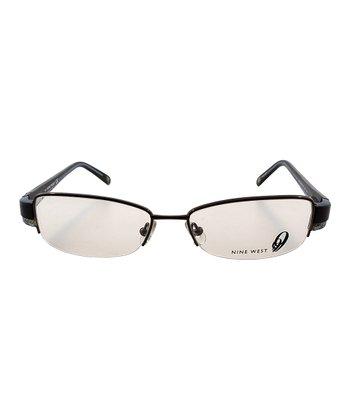 Chocolate & Blue Stripe Eyeglasses