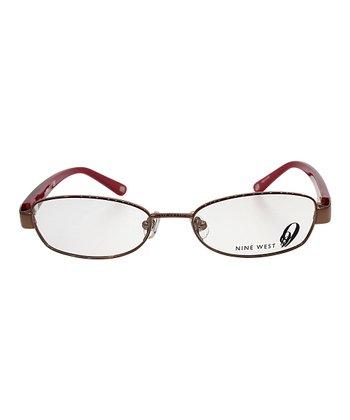 Deep Pink Floral Eyeglasses