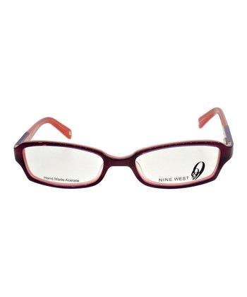 Maroon & Orange Star Eyeglasses