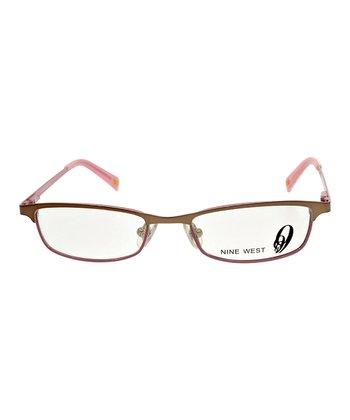 Brown Rose Geometric Eyeglasses