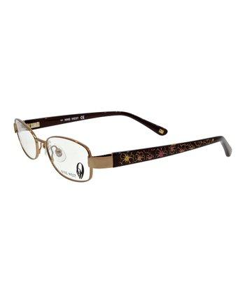 Bronze & Purple Floral Eyeglasses