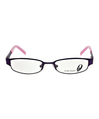 Matte Violet Floral Eyeglasses