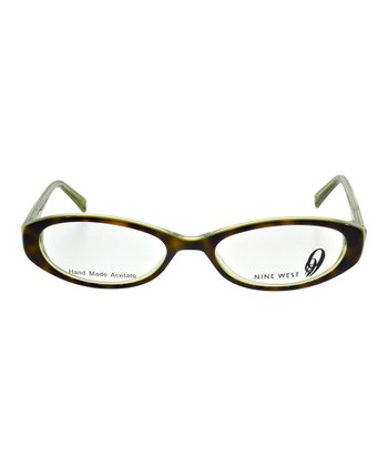 Dark Tortoise & Lime Oval Glasses