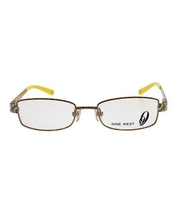 Bronze & Yellow Floral Eyeglasses