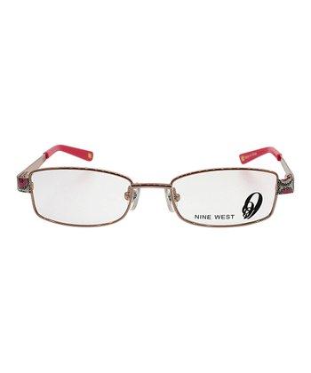 Rose Floral Rectangular Eyeglasses