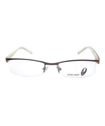 Satin Brown & Ivory Eyeglasses