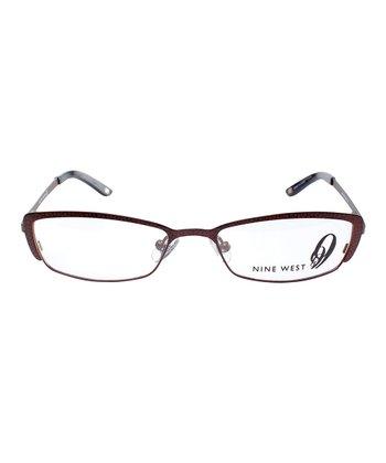 Matte Brown Crackle Eyeglasses