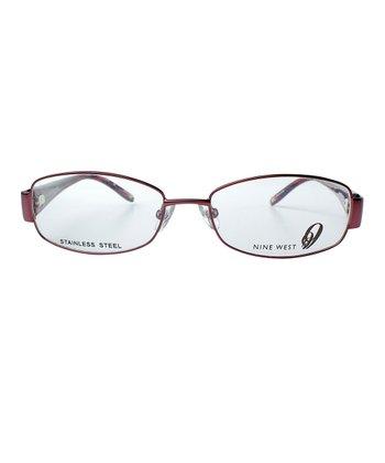 Satin Plum Oval Eyeglasses
