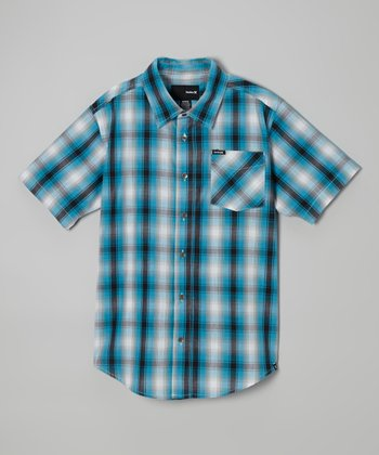 Legacy Navy Plaid Button-Up - Infant