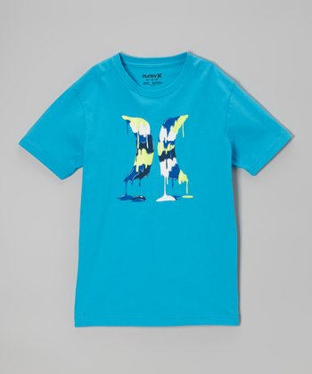 Cyan Drippy Tee - Toddler & Boys