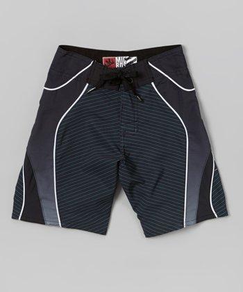 Micros Dark Charcoal Scope Boardshorts - Boys