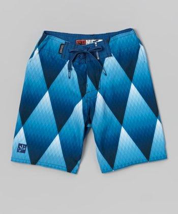 Micros Blue Dice Boardshorts - Boys