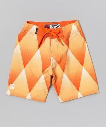 Micros Orange Dice Boardshorts - Boys