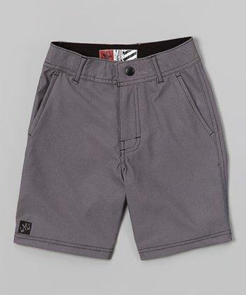 Micros Charcoal Tide Boardshorts - Boys