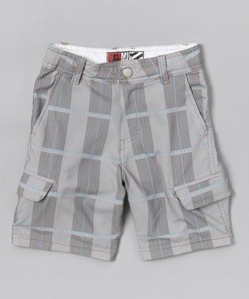 Micros Khaki Sandspit Boardshorts - Boys