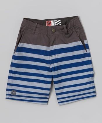Micros Charcoal Block Party Boardshorts - Boys