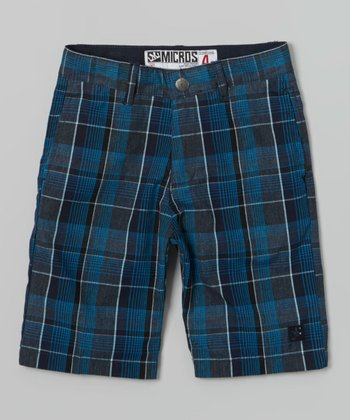 Steel Blue Spin Walk Shorts - Boys