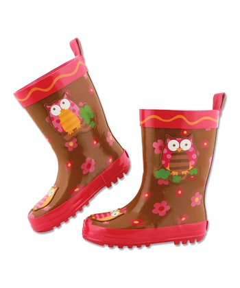 Red Owl Rain Boot