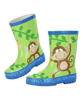 Green Monkey Rain Boot