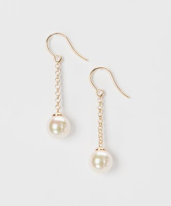 Gold & Pearl Chain Earrings