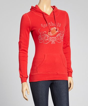 Red 'Football Mom' Hoodie