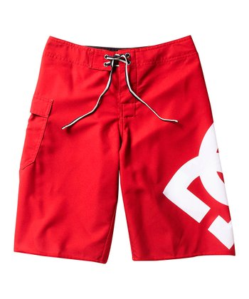 Deep Red Lanai Board Shorts - Boys