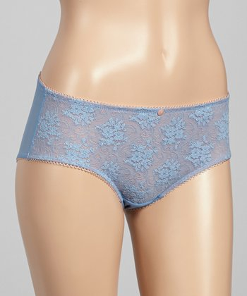 Silver Blue Lace Hipster - Women