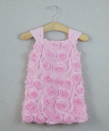 Pink Rosette Shift Dress - Infant, Toddler & Girls